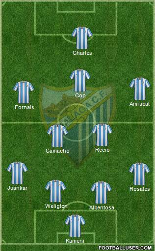 Málaga C.F., S.A.D. 4-4-1-1 football formation