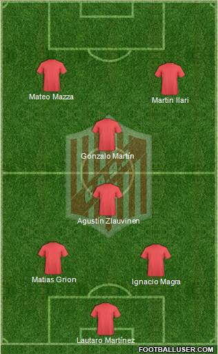 9 de Julio 4-4-1-1 football formation