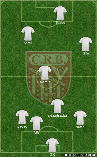 Chabab Riadhi Belouizdad 3-4-3 football formation