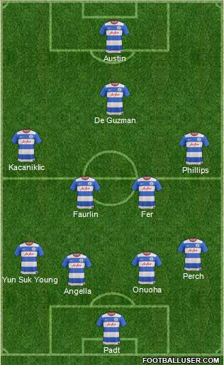 Queens Park Rangers 4-4-1-1 football formation