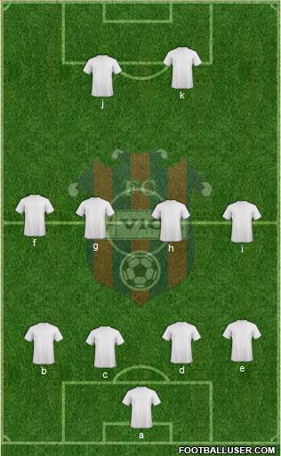 FC ViOn Zlate Moravce 4-1-4-1 football formation