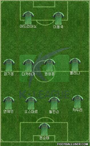 K-League All-Stars 4-4-2 football formation
