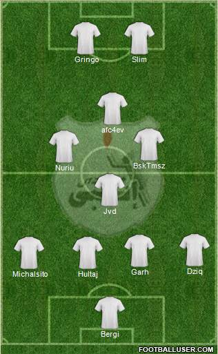ENPPI Club 3-4-2-1 football formation