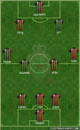 Forces Armées Royales 3-4-3 football formation