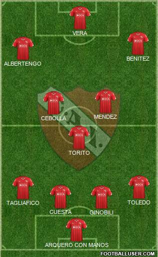 Independiente 4-1-4-1 football formation