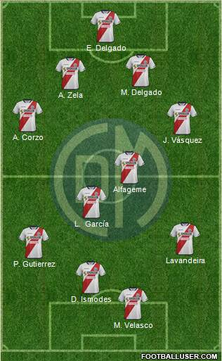 CC Deportivo Municipal 4-4-1-1 football formation