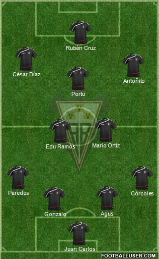 Albacete B., S.A.D. 4-2-2-2 football formation