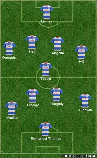 Queens Park Rangers 4-1-4-1 football formation