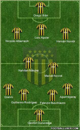 Club Atlético Peñarol 4-2-3-1 football formation
