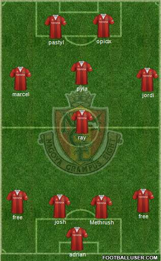 Nagoya Grampus 4-2-2-2 football formation