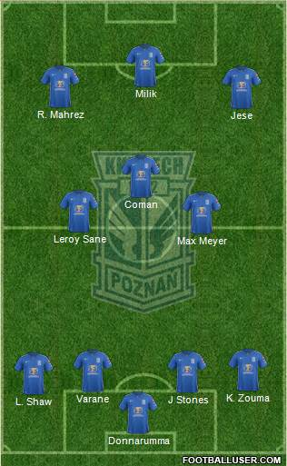 Lech Poznan 4-3-3 football formation