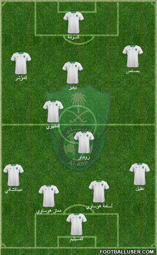 Al-Ahli (KSA) 4-5-1 football formation