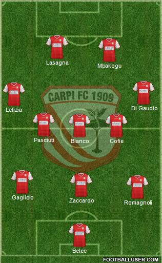 Carpi 3-5-2 football formation