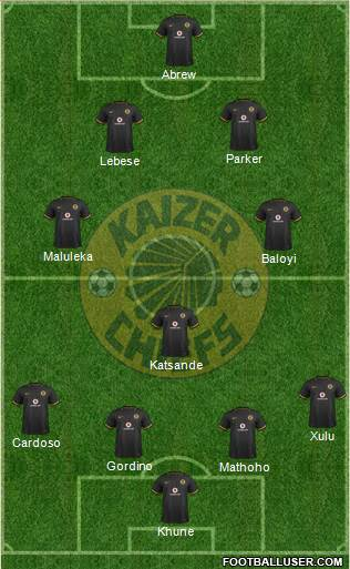 Kaizer Chiefs 4-3-3 football formation