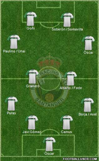 R. Racing Club S.A.D. 4-2-3-1 football formation