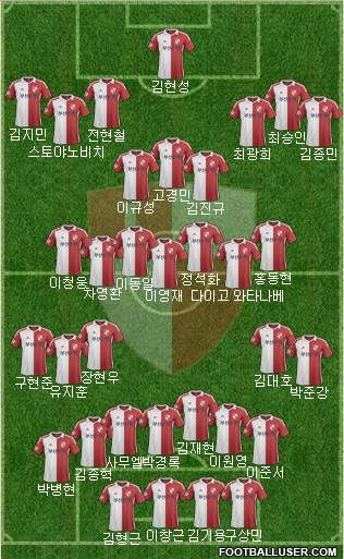 Busan I'PARK 4-3-3 football formation