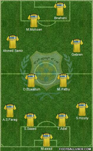 Ismaily Sporting Club 4-1-2-3 football formation
