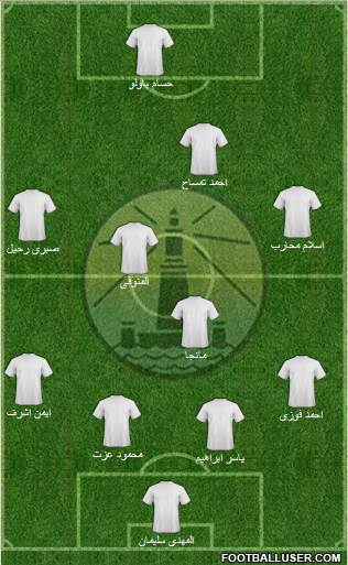 Olympic Alexandria 3-4-2-1 football formation