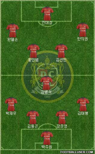 Daejeon Citizen 4-1-4-1 football formation