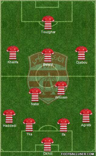 Club Africain Tunis 4-2-3-1 football formation