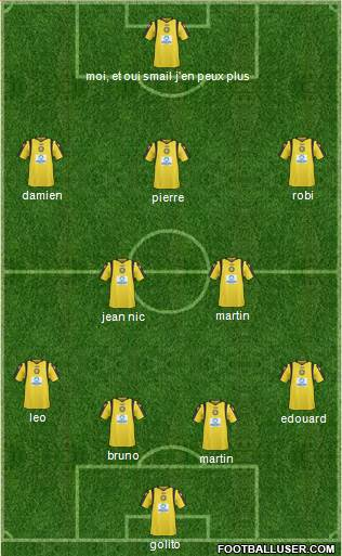ASI Lysis 3-4-3 football formation