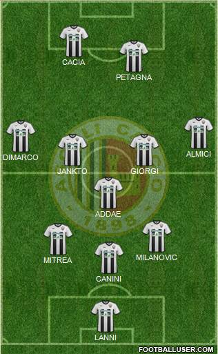 Ascoli 3-5-2 football formation