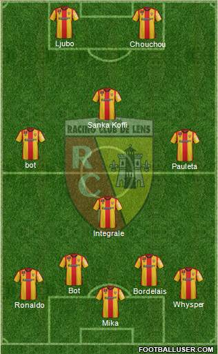 Racing Club de Lens 4-1-2-3 football formation