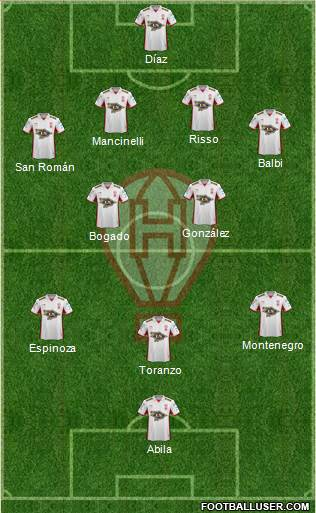 Huracán 4-5-1 football formation