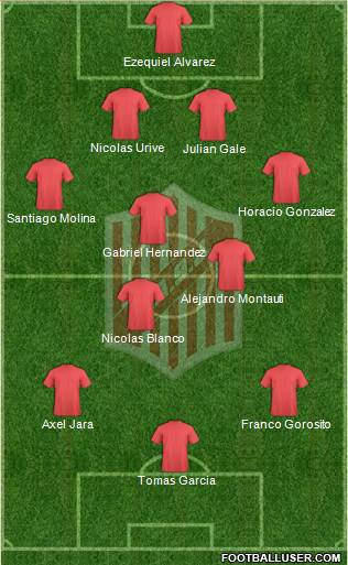9 de Julio 4-3-3 football formation