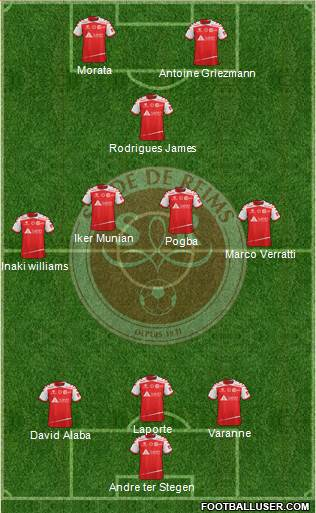 Stade de Reims 3-4-1-2 football formation