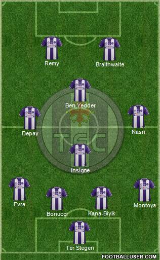 Toulouse Football Club 4-4-2 football formation