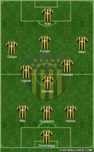 Club Atlético Peñarol 3-5-1-1 football formation