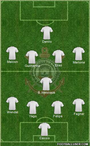EC Corinthians 4-1-4-1 football formation