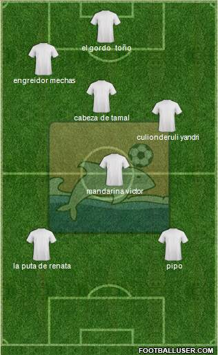 Delfín SC 5-4-1 football formation