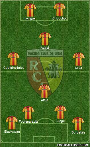 Racing Club de Lens 4-2-1-3 football formation