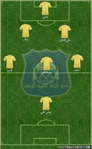 Najaf Sports Club 3-4-1-2 football formation