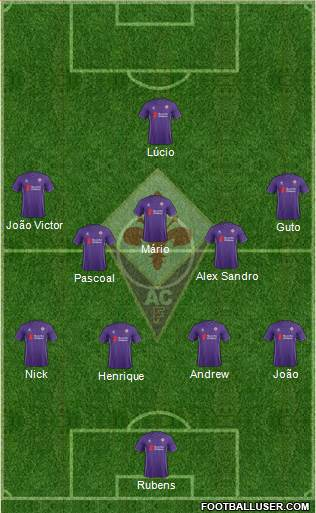 Fiorentina 4-5-1 football formation