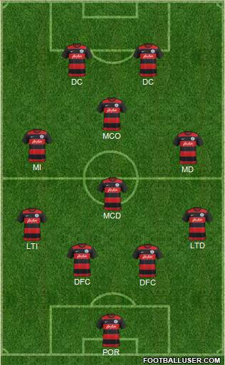 Queens Park Rangers 4-1-3-2 football formation
