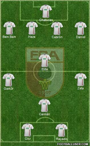 FC Augsburg 4-4-2 football formation
