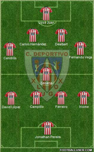 C.D. Lugo 4-3-1-2 football formation