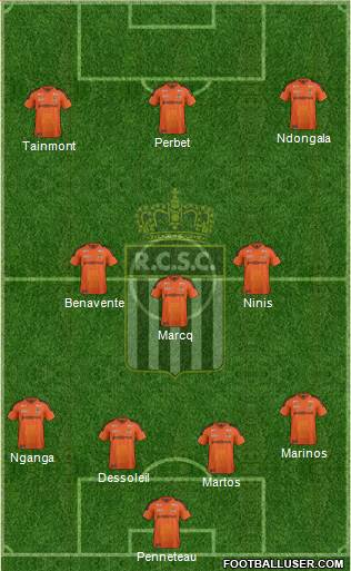 Sporting du Pays de Charleroi 4-3-3 football formation