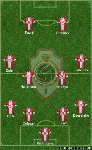 R Antwerp FC 4-4-2 football formation
