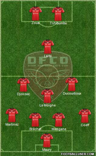 DFCO 4-3-1-2 football formation