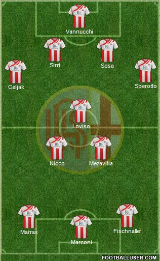 Alessandria 4-3-3 football formation