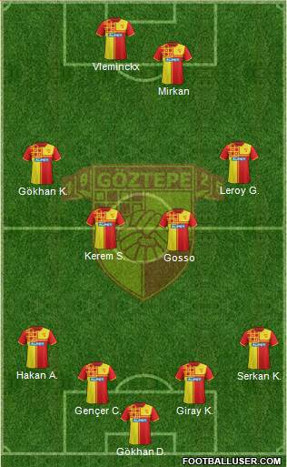 Göztepe A.S. 4-2-2-2 football formation
