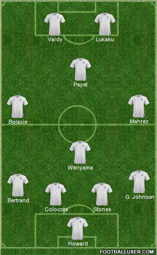 England 4-1-3-2 football formation