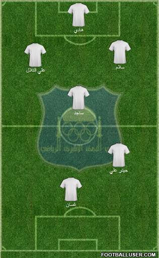 Najaf Sports Club 5-4-1 football formation