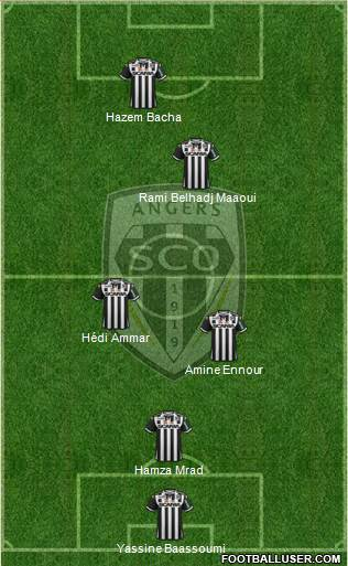 Angers SCO 4-5-1 football formation