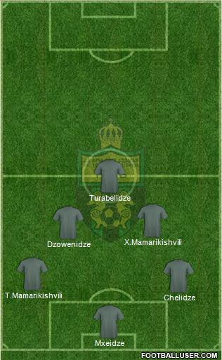FC Kutaisi-Torpedo 4-5-1 football formation