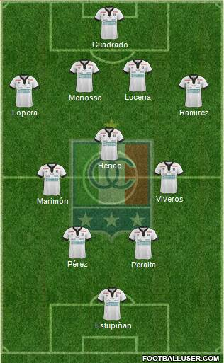 CD Once Caldas 4-3-2-1 football formation